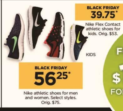 Kohl's Black Friday: Nike Men's and Women's Athletic Shoes, Select Styles for $56.25