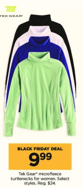 Kohl's Black Friday: Tek Gear Women's Microfleece Turtlenecks, Select Styles for $9.99
