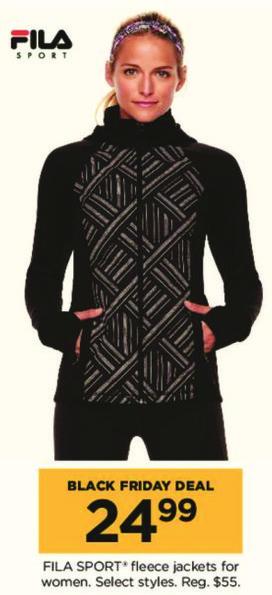 Kohl's Black Friday: Fila Sport Women's Fleece Jackets, Select Styles for $24.99