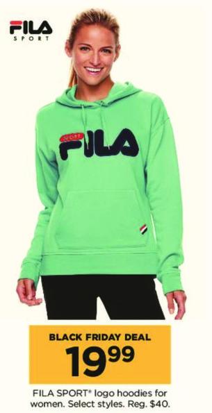 Kohl's Black Friday: Women's Fila Sport Logo Hoodies, Select Styles for $19.99
