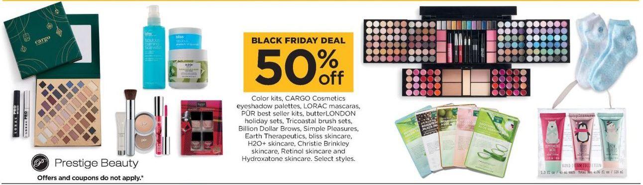 Kohl's Black Friday: Cargo Cosmetics Eyeshadow Palettes, Lorac Mascaras & Select Cosmetics - 50% Off