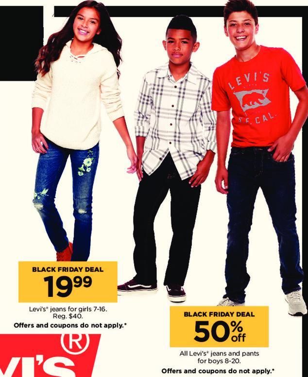 Kohl's Black Friday: Levi's Girls Jeans for $19.99