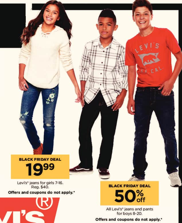 Kohl's Black Friday: All Levi's Boys' Jeans and Pants - 50% Off