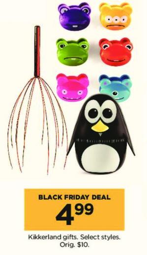 Kohl's Black Friday: Kikkerland Gifts, Select Styles for $4.99