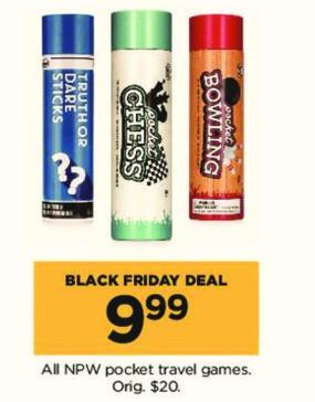 Kohl's Black Friday: All NPW Pocket Travel Games for $9.99