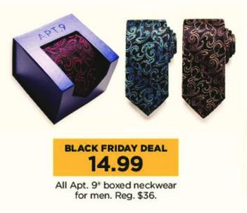 Kohl's Black Friday: All Apt. 9 Men's Boxed Neckwear for $14.99