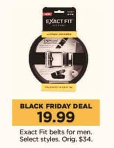 Kohl's Black Friday: Exact Fit Men's Belts, Select Styles for $19.99