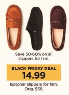 Kohl's Black Friday: Isotoner Men's Slippers for $14.99