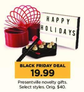Kohl's Black Friday: Presentville Novelty Gifts, Select Styles for $19.99