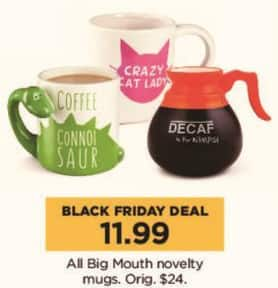 Kohl's Black Friday: All Big Mouth Novelty Mugs for $11.99