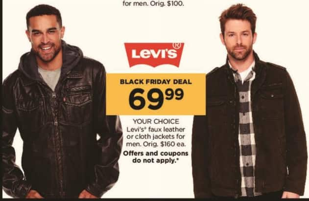 Kohl's Black Friday: Levi's Men's Faux Leather or Cloth Jackets for $69.99