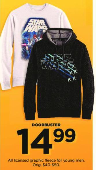 Kohl's Black Friday: Men's Licensed Graphic Fleece for $14.99