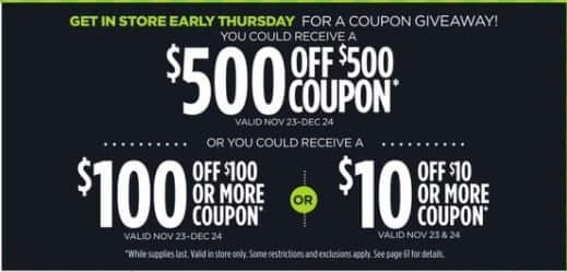 JCPenney Black Friday: JCPenney Coupon Giveaway - $500 Off $500, $100 Off $100+, $10 Off $10+