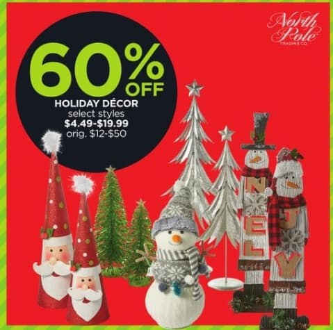 JCPenney Black Friday: Holiday Decor, Select Styles for $4.49 - $19.99