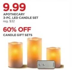 JCPenney Black Friday: Apothecary 3-pc. LED Candle Set for $9.99