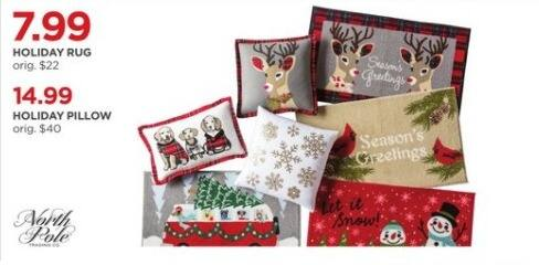 JCPenney Black Friday: North Pole Holiday Pillow for $14.99