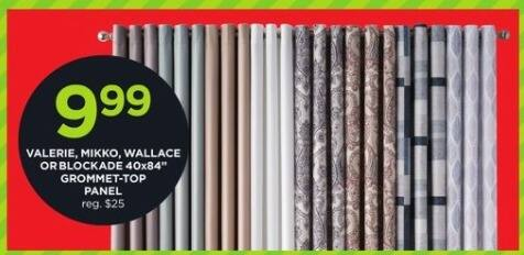 """JCPenney Black Friday: Valerie, Mikko, Wallace or Blockade 40x84"""" Grommet-Top Panel for $9.99"""
