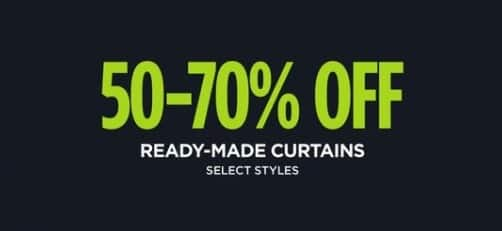 JCPenney Black Friday: Ready-Made Curtains, Select Styles - 50-70% Off