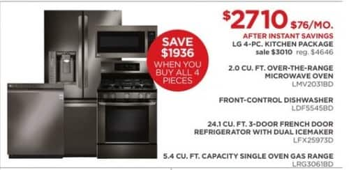 JCPenney Black Friday: LG 4-pc. Kitchen Package for $2,710.00