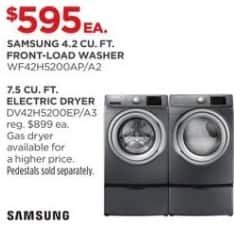JCPenney Black Friday: Samsung 4.2 cu. ft. WF42H5200AP/A2 Front-Load Washer for $595.00