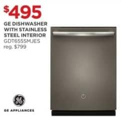 JCPenney Black Friday: GE GDT655SMJES Dishwasher w/ Stainless Steel Interior for $495.00
