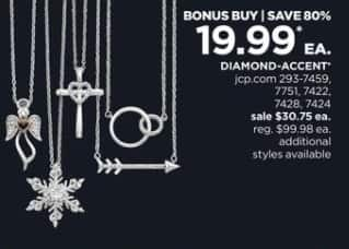 JCPenney Black Friday: Diamond-Accent Sterling Silver Necklaces, Each for $19.99