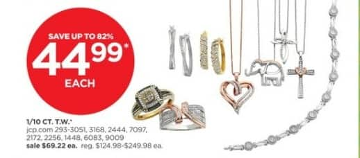 JCPenney Black Friday: 1/10 ct. t.w. Diamond Sterling Hoop Earrings and More, Each for $44.99