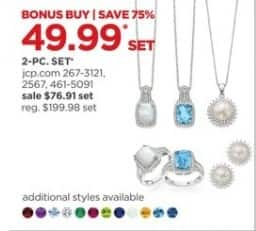 JCPenney Black Friday: 2-pc. Jewelry Sets, Each for $49.99