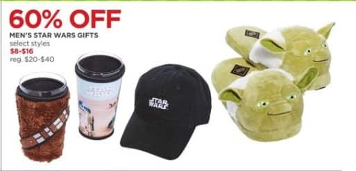 JCPenney Black Friday: Men's Star Wars Gifts, Select Styles for $8.00 - $16.00