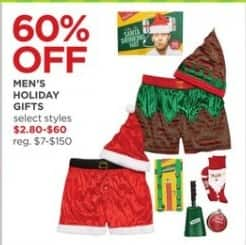 JCPenney Black Friday: Men's Holiday Gifts, Select Styles for $2.80 - $60.00