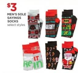 JCPenney Black Friday: Men's Sole Sayings Socks, Select Styles for $3.00