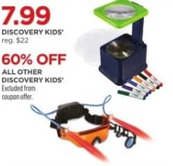 JCPenney Black Friday: Discovery Kids' Toys, Select Styles - 60% Off