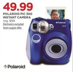 JCPenney Black Friday: Polaroid Pic 300 Instant Camera for $49.99