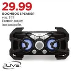 JCPenney Black Friday: iLive Boombox Speaker for $29.99