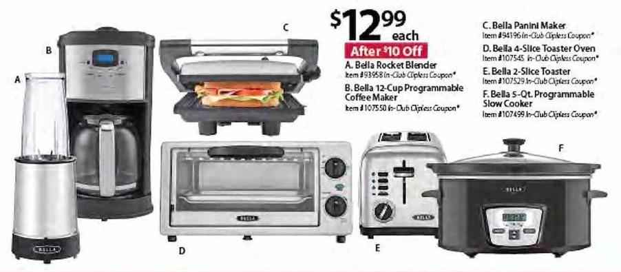BJs Wholesale Black Friday: Bella 4-Slice Toaster Oven for $12.99