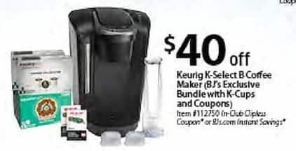 BJs Wholesale Black Friday: Keurig K-Select B Coffee Maker - $40 Off