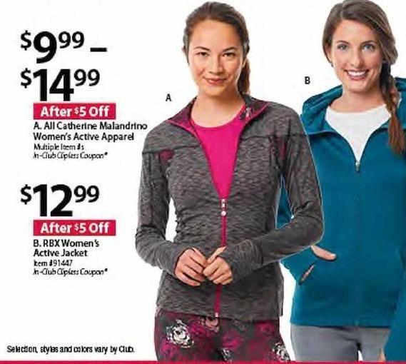 BJs Wholesale Black Friday: RBX Women's Active Jacket for $12.99