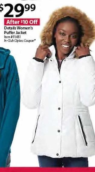 BJs Wholesale Black Friday: Details Women's Puffer Jacket for $29.99