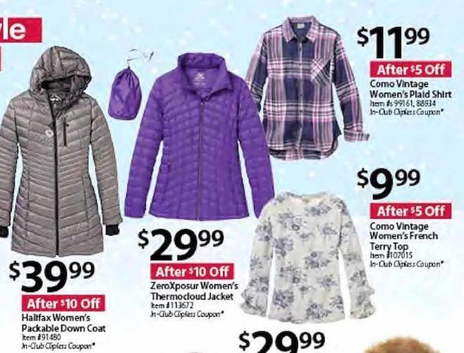 BJs Wholesale Black Friday: Halifax Women's Packable Down Coat for $39.99
