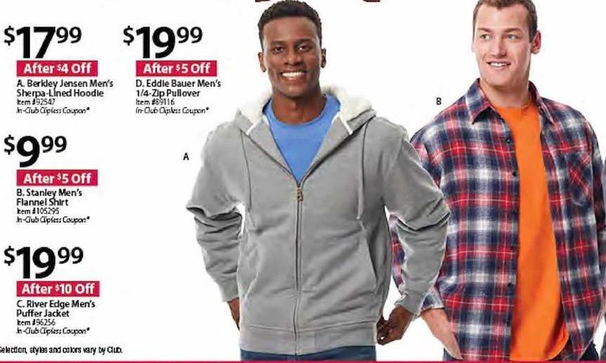 BJs Wholesale Black Friday: Berkley Jensen Men's Sherpa-Lined Hoodie for $17.99