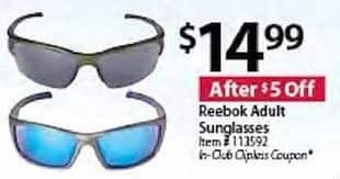 BJs Wholesale Black Friday: Reebok Adult Sunglasses for $14.99