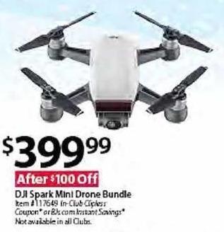 BJs Wholesale Black Friday: DJI Spark Mini Drone Bundle for $399.99