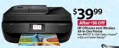 BJs Wholesale Black Friday: HP OfficeJet 4655 Wireless All-in-One Printer for $39.99