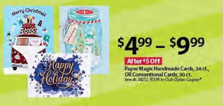 BJs Wholesale Black Friday: Paper Magic Handmade Cards, 24-ct, or Conventional Cards, 30-ct. for $4.99 - $9.99