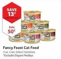Pet Supplies Plus Black Friday: Fancy Feast Cat Food, 3oz Can, Select Varieties, w/Card for $0.50