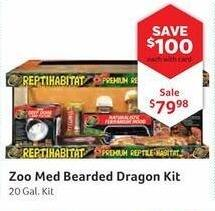 Pet Supplies Plus Black Friday: Zoo Med Bearded Dragon 20 Gal. Kit, w/Card for $79.98