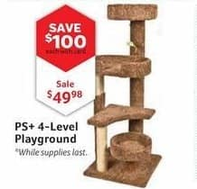 Pet Supplies Plus Black Friday: PS+ 4-Level Playground, w/Card for $49.98