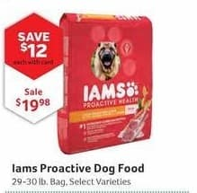 Pet Supplies Plus Black Friday: Iams Proactive Dog Food, Select Varieties, w/Card for $19.98