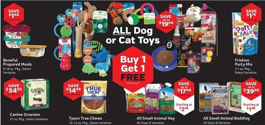 Pet Supplies Plus Black Friday: All Dog or Cat Toys - B1G1 Free