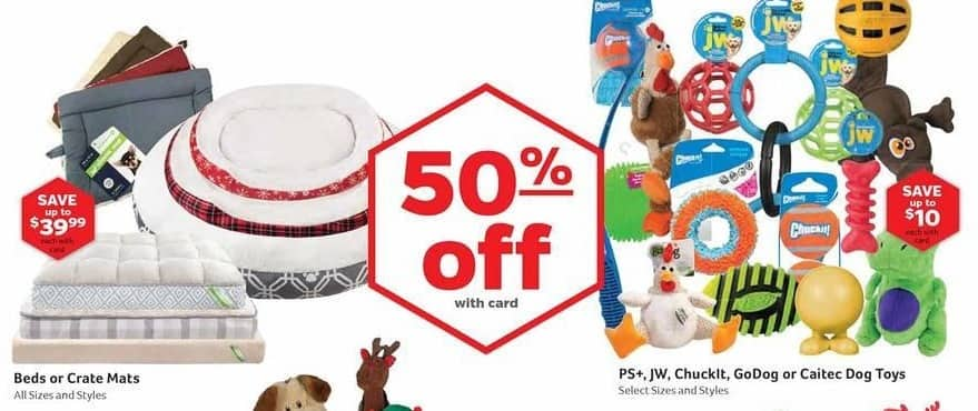 Pet Supplies Plus Black Friday: PS+, JW, Chuckit, GoDog or Caitec Dog Toys, Select Sizes and Styles, w/Card - 50% Off